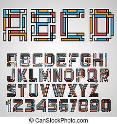 アルファベット, スタイル, mayan, 手紙, 数