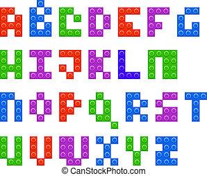 アルファベット, プラスチック, コンストラクター