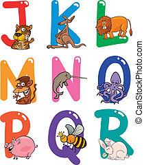 アルファベット, 動物, 漫画