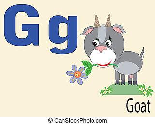 アルファベット, 動物, g