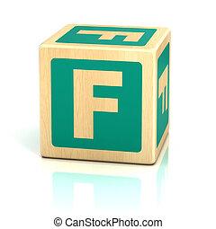 アルファベット, 壷, f, 手紙, 立方体
