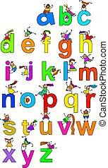 アルファベット, 子供