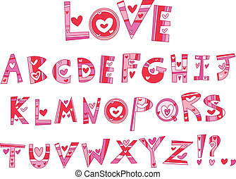 アルファベット, 愛