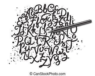 アルファベット, 手書き