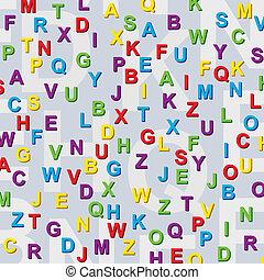 アルファベット, 手紙, カラフルである