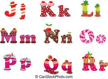 アルファベット, 手紙, 甘い