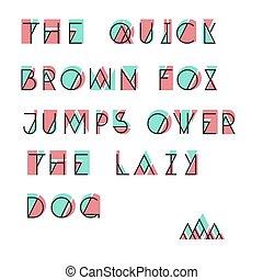 アルファベット, 抽象的, ベクトル, セット