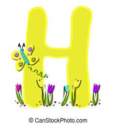アルファベット, 春, 持つ, 飛びかかった