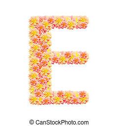 アルファベット, 白, 隔離された, e