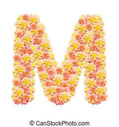 アルファベット, 白, 隔離された, m