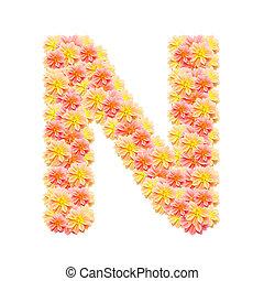 アルファベット, 白, n, 隔離された
