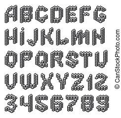 アルファベット, 立方体