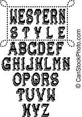 アルファベット, 西部