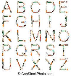 アルファベット, 道具
