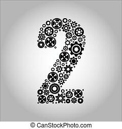 アルファベット, 2, -, gear-number