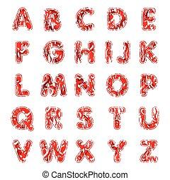 アルファベット, 3次元, セット