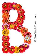 アルファベット, b, -, 花