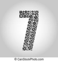 アルファベット, -, gear-number, 7