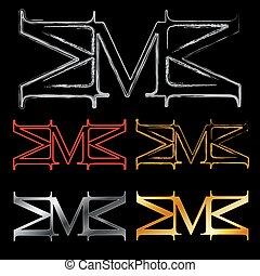 アルファベット, m, ロゴ