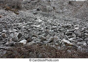 アルプス, apuan, 危ない, 玉石, 岩, tuscan, 地すべり, 急