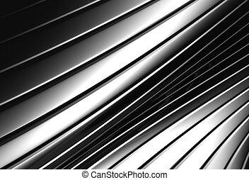 アルミニウム, パターン, 抽象的, ストライプ, 背景, 銀