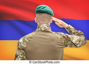 アルメニア, シリーズ, 国民, -, 旗, 背景, 力, 概念, 軍