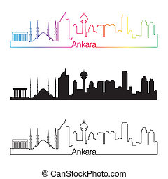 アンカラ, 虹, スタイル, スカイライン, 線である