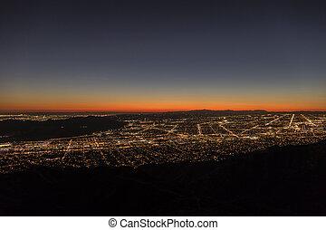 アンジェルという名前の人たち, los, 航空写真, 都市の景観, 夜