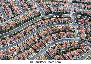 アンジェルという名前の人たち, los, 郊外, 近所, 航空写真