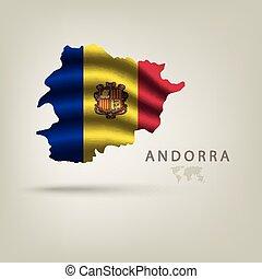 アンドラ, 国, 旗, 影