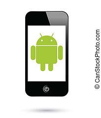 アンドロイド, smartphones, operationg, システム