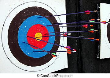 アーチェリー, 多数, ターゲット, arrow.