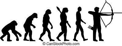 アーチェリー, 進化