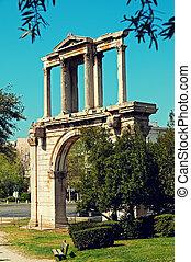 アーチ, アテネ, hadrian`s, ギリシャ