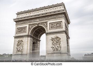 アーチ, パリ, 勝利, フランス