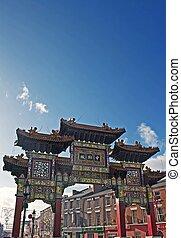 アーチ, 入口, リバプール, 地区, 中国語, chinatown, イギリス, 2014