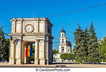 アーチ, chisinau, triumphal, -, moldova