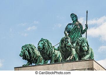 アーチ, siegestor, ドイツ, triumphal, ミュンヘン