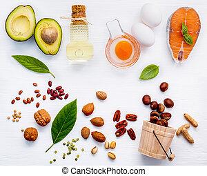 アーモンド, 食品。, 極度, 選択, 3, 源, アボカド, 種, 健康に良い食物, オイル, オメガ, 脂, クルミ...
