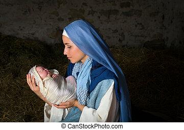 イエス・キリスト, 保有物, mary, 赤ん坊, 新しい