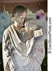 イエス・キリスト, 北京, 陶磁器, st. 。, 像, wangfujing, 赤ん坊, ヨセフ, 大聖堂