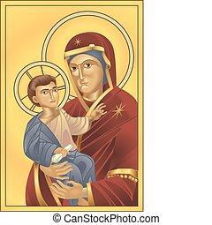 イエス・キリスト, 聖母マリア