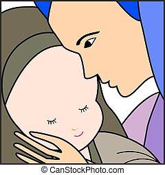 イエス・キリスト, 赤ん坊, mary