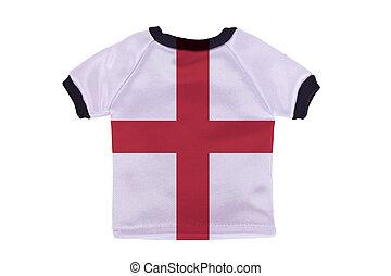 イギリス\, ワイシャツ, 隔離された, 旗, 背景, 小さい, 白