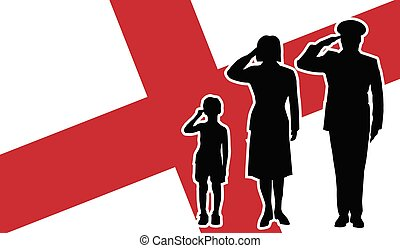イギリス\, 兵士, 家族, 挨拶
