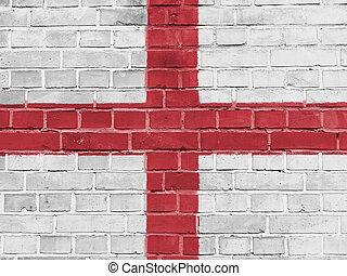 イギリス\, 政治, concept:, 英語, 旗, 壁