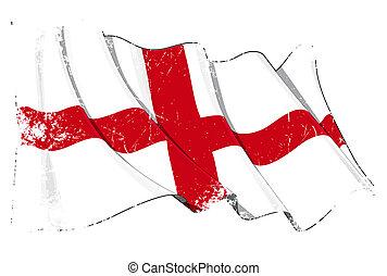 イギリス\, 旗, グランジ