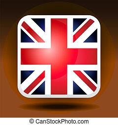 イギリス\, 旗, ios, スタイル, アイコン