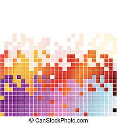 イコライザ, カラフルである, 抽象的, 背景, デジタル, ピクセル