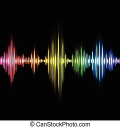 イコライザ, ベクトル, 音楽, カラフルである, 背景